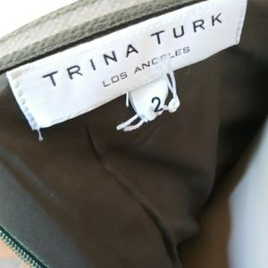 Trina Turk Dresses - Trina Turk Cora Green Strappless Tweed Dress